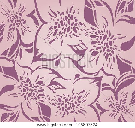 Pink floral decorative holiday background