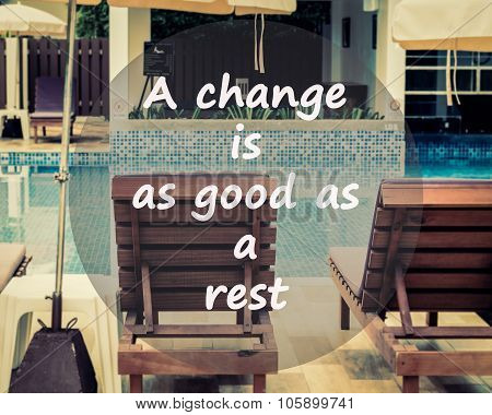 Meaningful Quotes On Swimming Pool