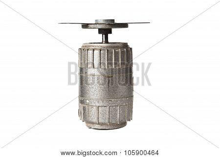 electric motor with impeller isolated on white background