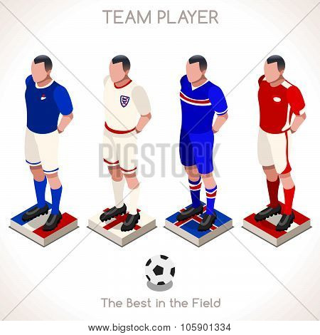 Football People Isometric