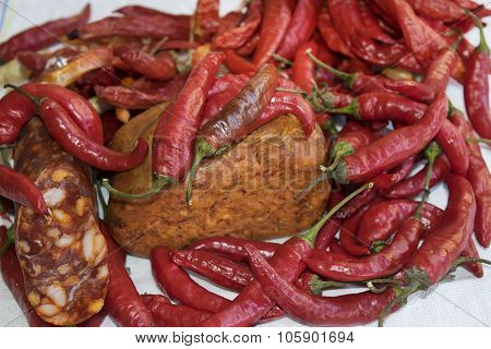 Hot Peppers Salami And Nduja