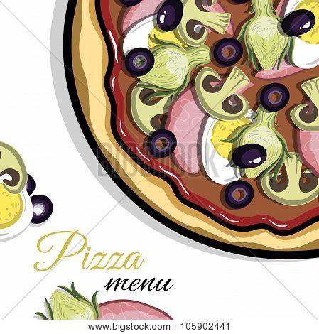 Menu For Pizzeria 4