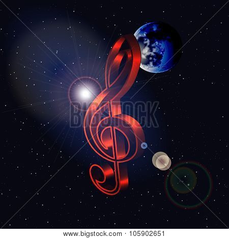 Frame Treble Clef In Space
