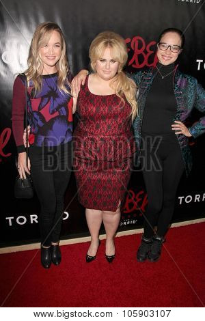 LOS ANGELES - OCT 22:  Kelley Jakle, Rebel Wilson, Alexis Knapp at the Rebel Wilson for Torrid Launch Party at the Milk Studios on October 22, 2015 in Los Angeles, CA