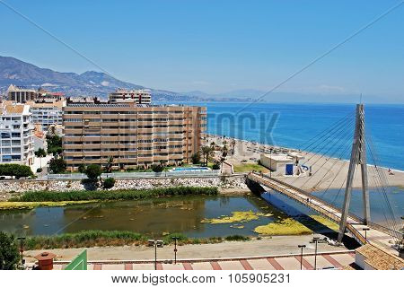 Fuengirola river and beach.