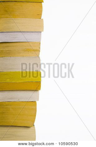 Stack Of Old Paperback Books