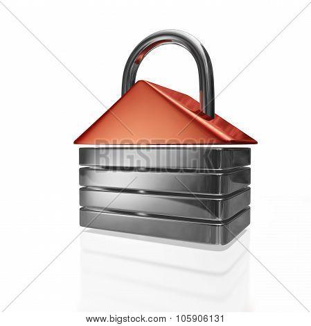 House Shape Security Padlock