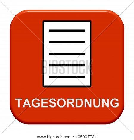 Modern Button Showing Agenda German