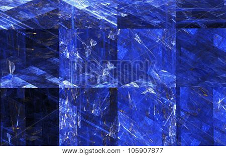 Fractal Image: Geometrical Pattern With Squares.
