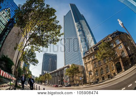 Skyscrapers Of Frankfurt Am Main. Germany