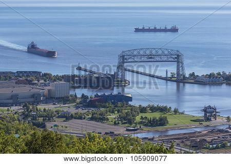 Ship Entering Harbor