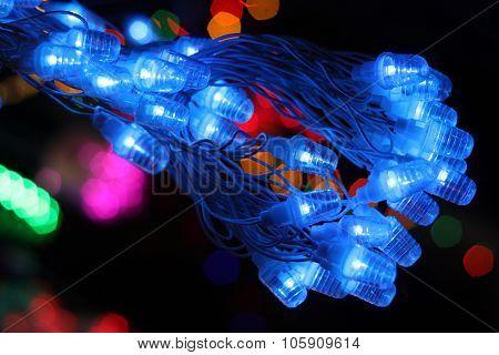 Festive Blue Lights