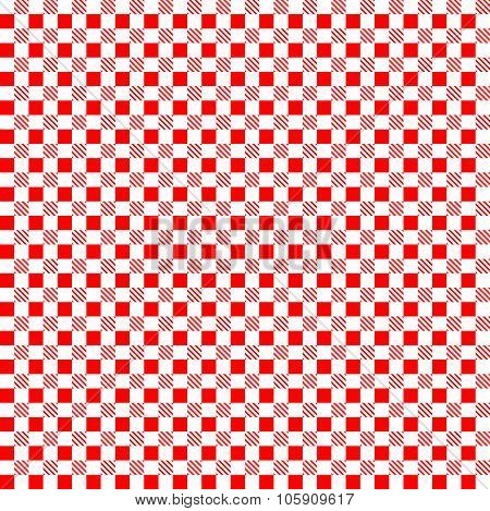 Red Patterns Tablecloths. Seamless Pattern