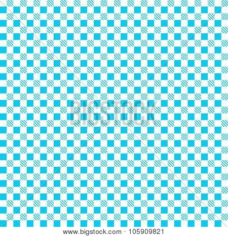 Blue Patterns Tablecloths. Seamless Pattern