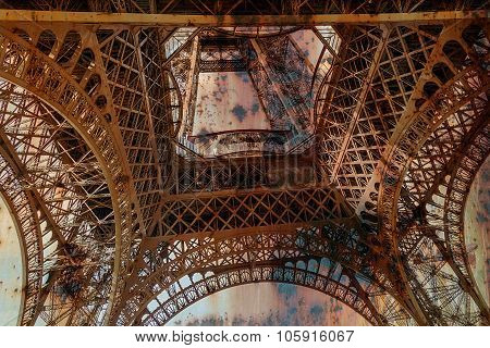 Rusty Background  With Eiffel Tower 2