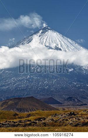 Klyuchevskoi Volcano - Active Volcano On Kamchatka. Russia, Far East