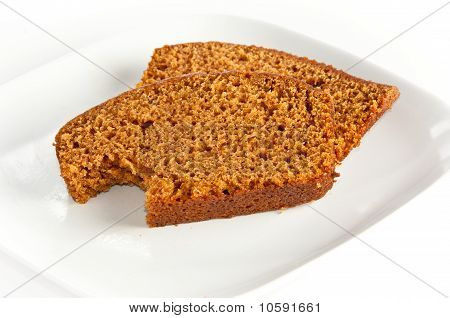Two Slices Of Freshly Baked Pumpkin Bread