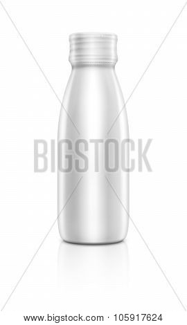 Blank packaging beverage bottle isolated on white background
