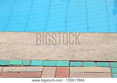 Edge Of A Swimming Pool In A Hot Day