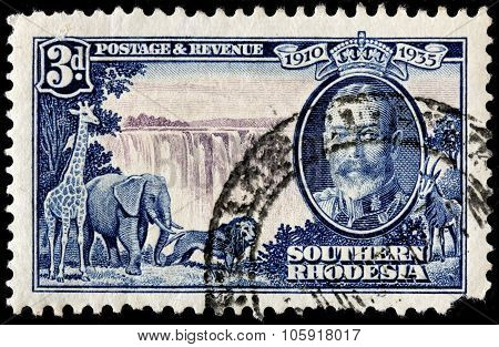 Victoria Falls Stamp