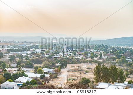 Hazy And Dusty View Of Prieska