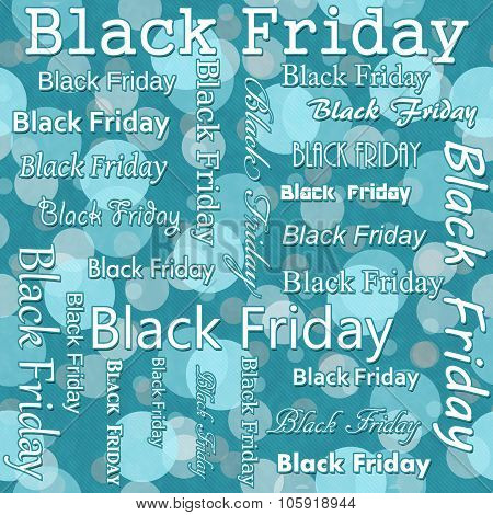 Black Friday Design With Teal Polka Dot Tile Pattern Repeat Background