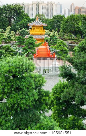 Golden Pavilion Of Perfection In Nan Lian Garden
