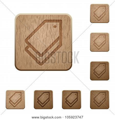 Tags Wooden Buttons