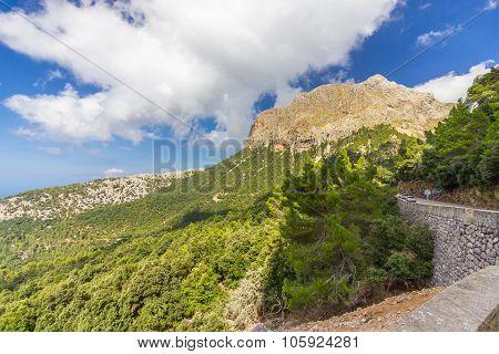 Beautiful View Of Sierra De Tramuntana, Mallorca, Spain