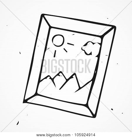 Hand Drawn Vector Framework, Nature