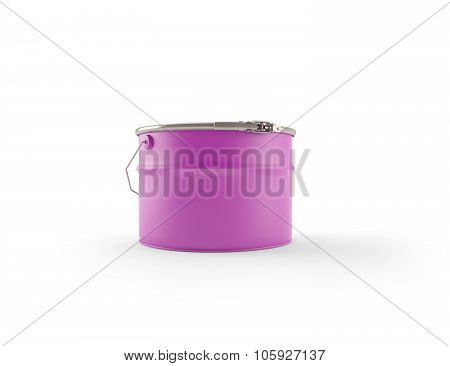 Purple Can Of Paint With The Handle