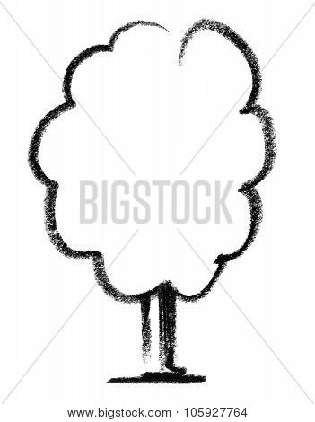 Deciduous Tree Sketch