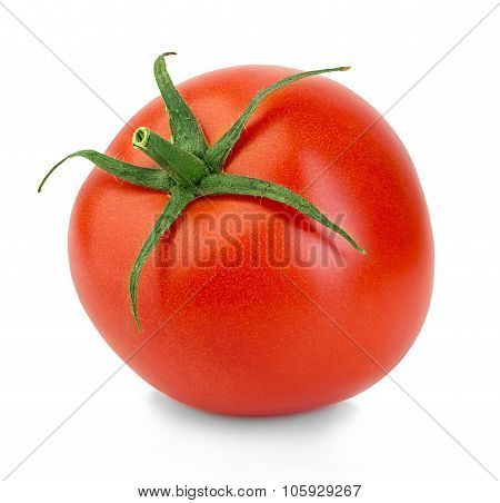 Fresh Red Tomato Isolated On White Background.