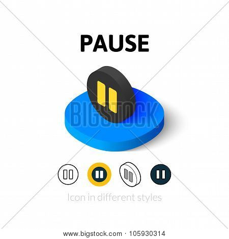 Pause icon in different style