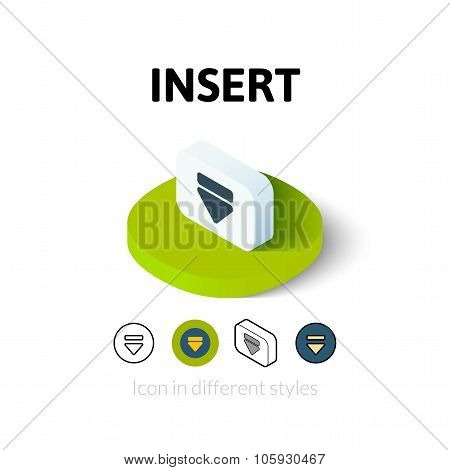Insert icon in different style