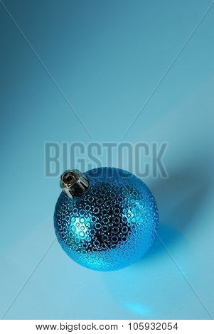christmass ball on a blue background