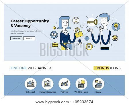 Career Opportunity Flat Line Banner