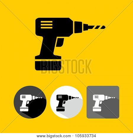 Drill Hand Machine Icon