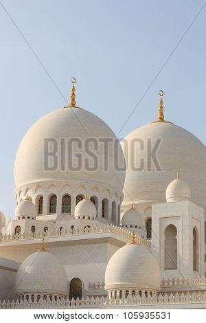 Abu Dhabi,United Arab Emirates - October 10,2014:  Deails of Sheikh Zayed mosque in Abu-Dhabi