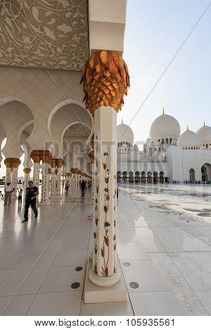 Abu Dhabi, Uae - October 10, 2014: Sheikh Zayed Mosque In Abu-dhabi