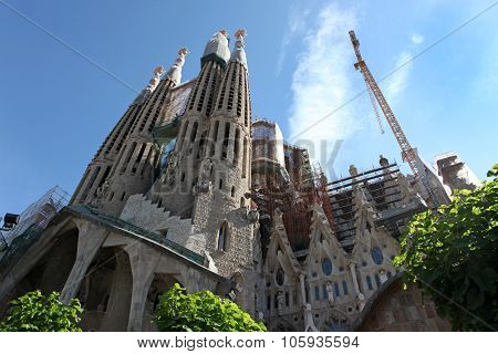 Barcelona Spain - June 9: La Sagrada Familia