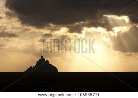 Tramonto Su Mont Saint Michel