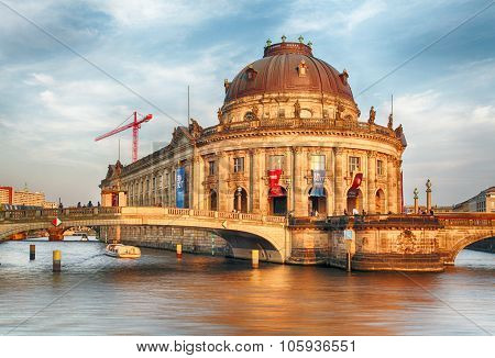 Bode Museum In Berlin At Sunset