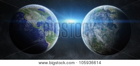 Earth Exoplanet In Space