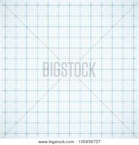 Blue square grid on white background