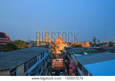 Bangkok, Thailand - April 13, 2015: Wat Pho, Known Also As The Temple Of The Reclining Buddha, At Du