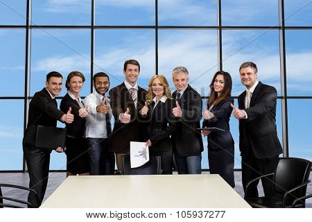 Ambitious business people signed a contract.