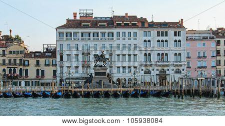 Seaview Of The Gondole Of Piazza San Marco, Venice