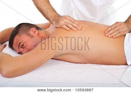 Man Receive Torso Massage
