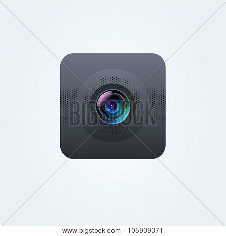 Vector photo camera lens illustration
